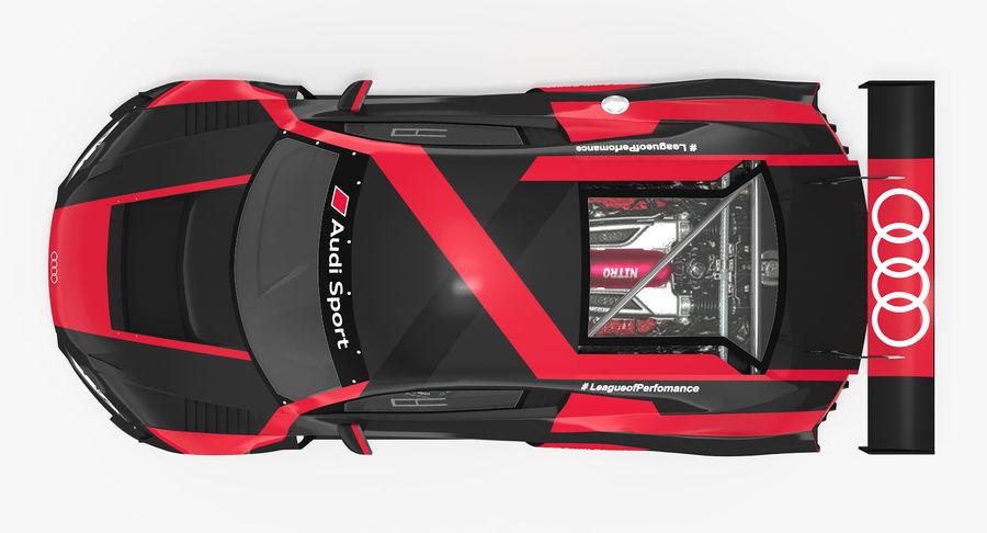 Audi R8 LMS GT3 royalty-free 3d model - Preview no. 20