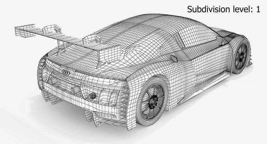 Audi R8 LMS GT3 royalty-free 3d model - Preview no. 8