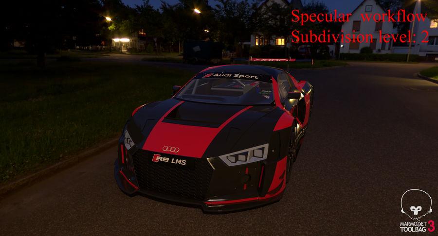 Audi R8 LMS GT3 royalty-free 3d model - Preview no. 56