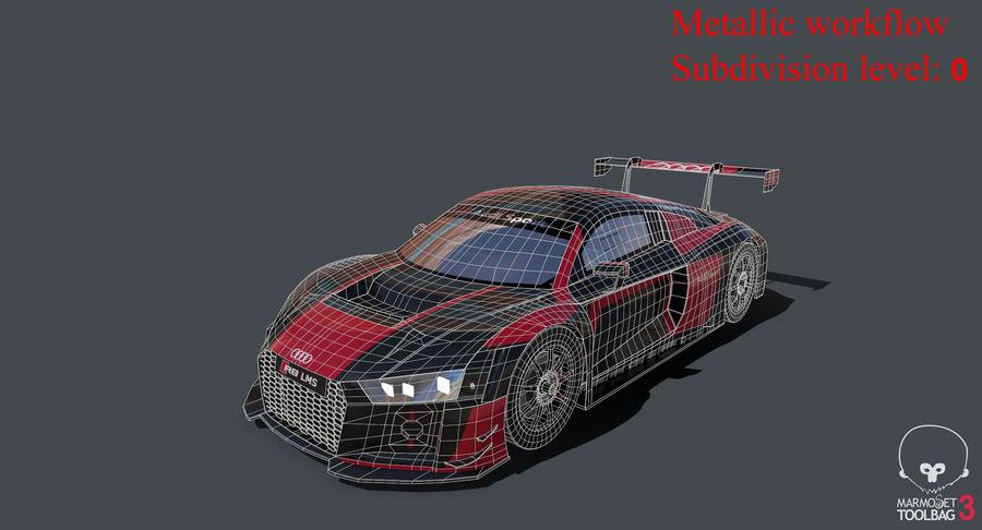 Audi R8 LMS GT3 royalty-free 3d model - Preview no. 36