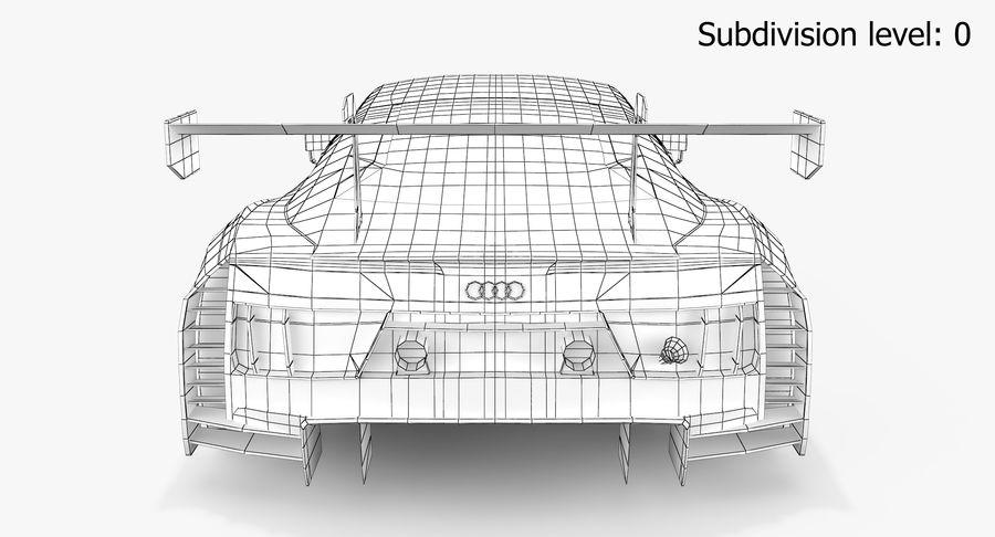 Audi R8 LMS GT3 royalty-free 3d model - Preview no. 18