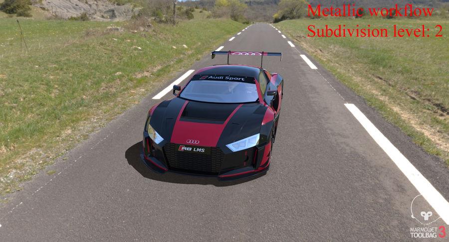 Audi R8 LMS GT3 royalty-free 3d model - Preview no. 39