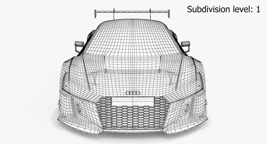 Audi R8 LMS GT3 royalty-free 3d model - Preview no. 15