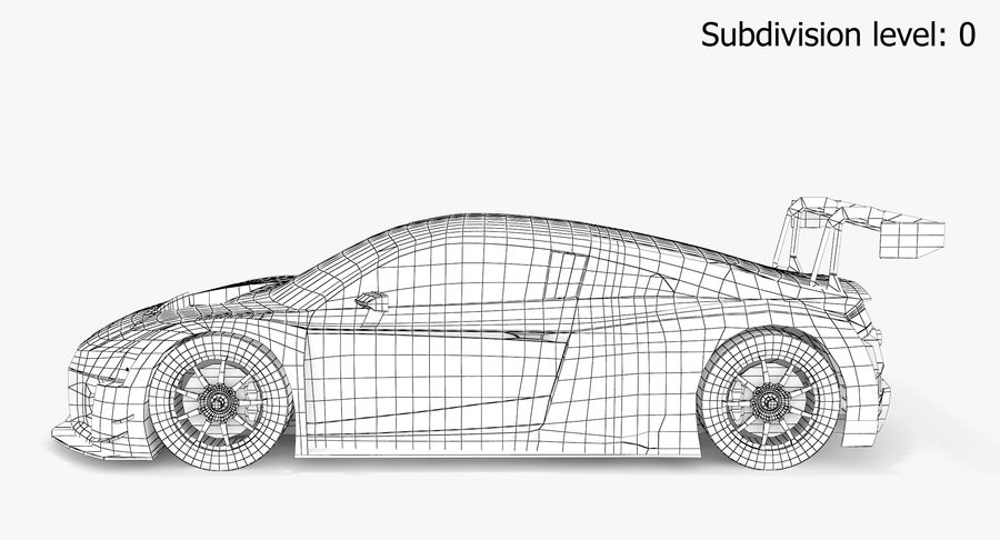 Audi R8 LMS GT3 royalty-free 3d model - Preview no. 10