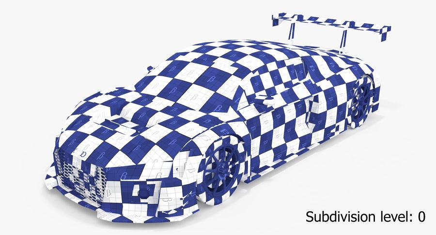 Audi R8 LMS GT3 royalty-free 3d model - Preview no. 23