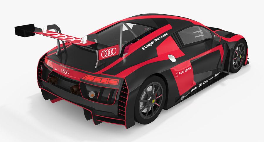 Audi R8 LMS GT3 royalty-free 3d model - Preview no. 6