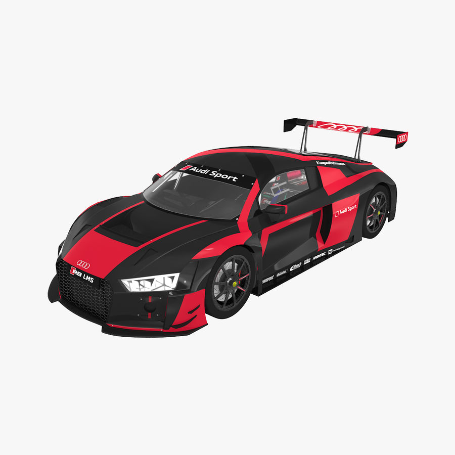 Audi R8 LMS GT3 royalty-free 3d model - Preview no. 1