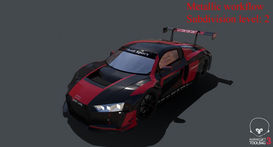 Audi R8 LMS GT3 royalty-free 3d model - Preview no. 32