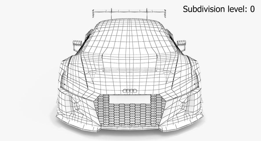 Audi R8 LMS GT3 royalty-free 3d model - Preview no. 14