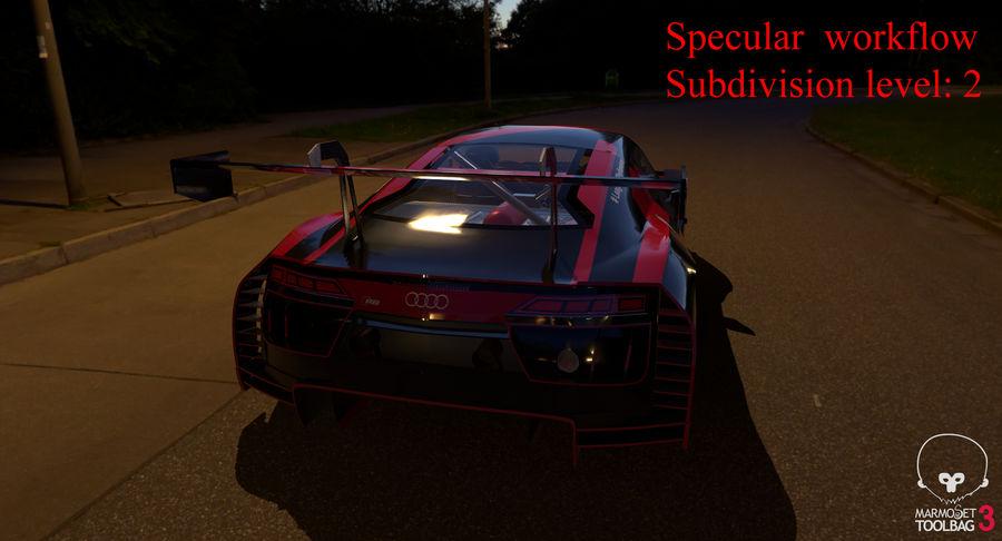 Audi R8 LMS GT3 royalty-free 3d model - Preview no. 58