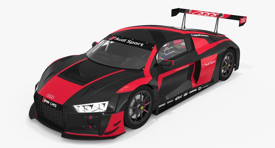 Audi R8 LMS GT3 royalty-free 3d model - Preview no. 3