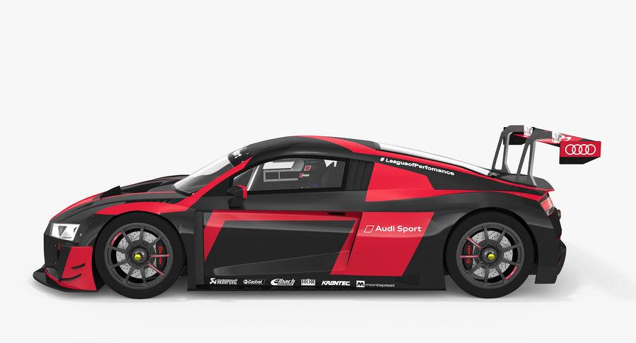 Audi R8 LMS GT3 royalty-free 3d model - Preview no. 9