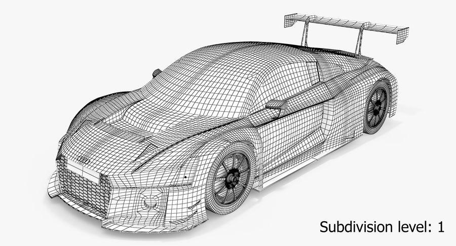 Audi R8 LMS GT3 royalty-free 3d model - Preview no. 5