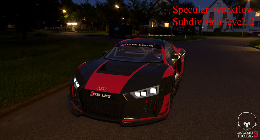 Audi R8 LMS GT3 royalty-free 3d model - Preview no. 55