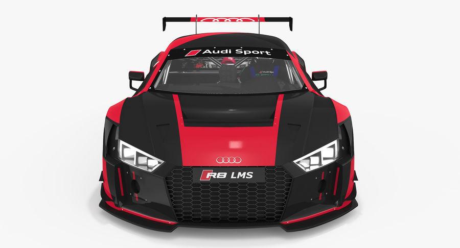 Audi R8 LMS GT3 royalty-free 3d model - Preview no. 13