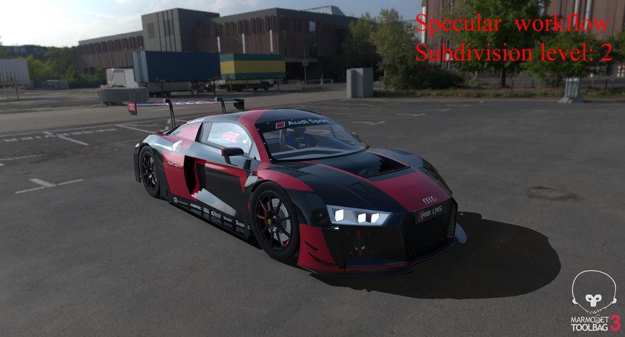 Audi R8 LMS GT3 royalty-free 3d model - Preview no. 53
