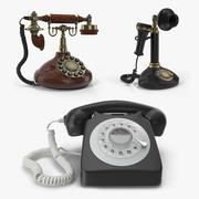 Collection de téléphones rotatifs 2 3d model