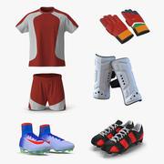 Kolekcja modeli piłkarskich Uniform 3D 3d model