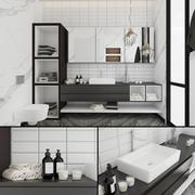 Zeitgenössisches Badezimmer 3d model