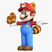 Ogon szopa pracza Super Mario Bros - Super Liść 3d model