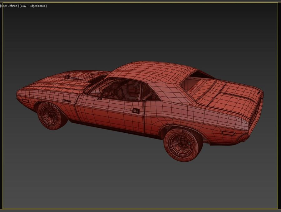 1970 Dodge Challenger Mopar royalty-free modelo 3d - Preview no. 9
