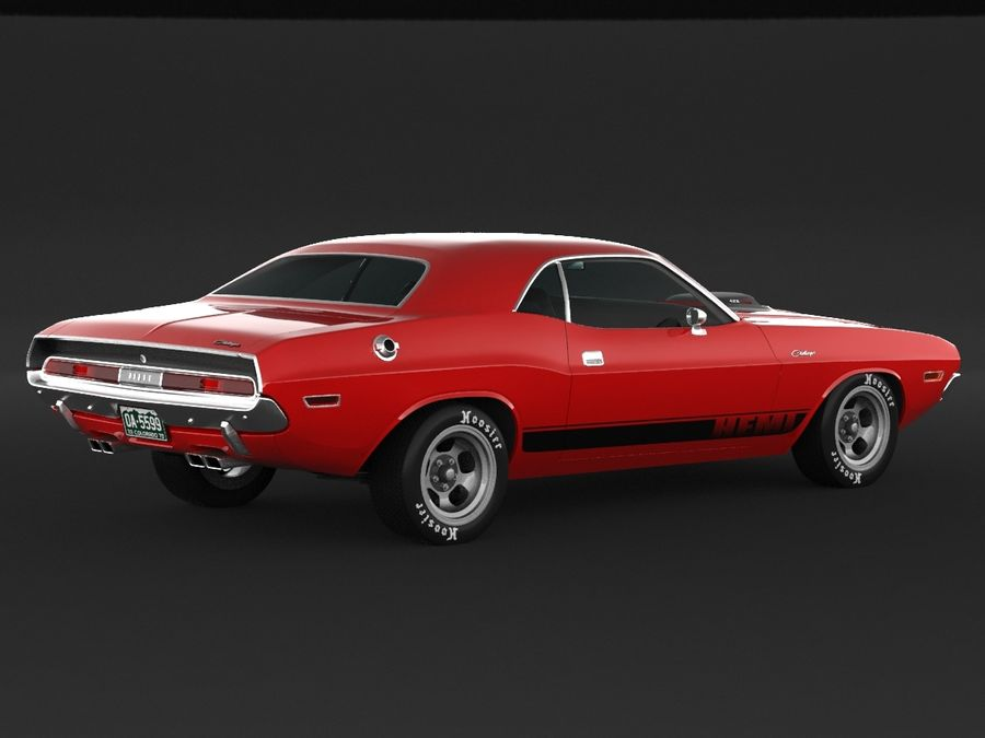 1970 Dodge Challenger Mopar royalty-free modelo 3d - Preview no. 2