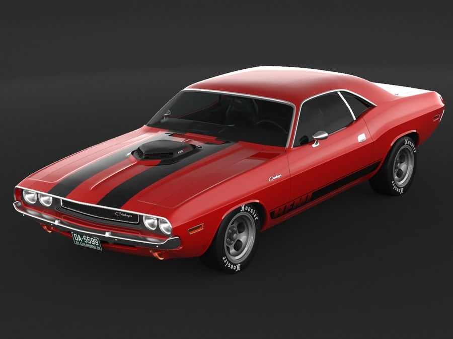 1970 Dodge Challenger Mopar royalty-free modelo 3d - Preview no. 6