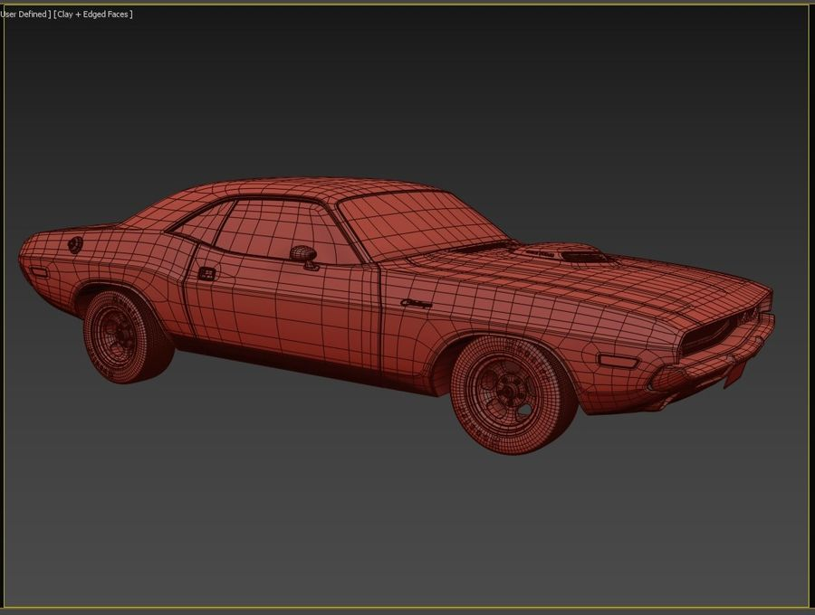 1970 Dodge Challenger Mopar royalty-free modelo 3d - Preview no. 8