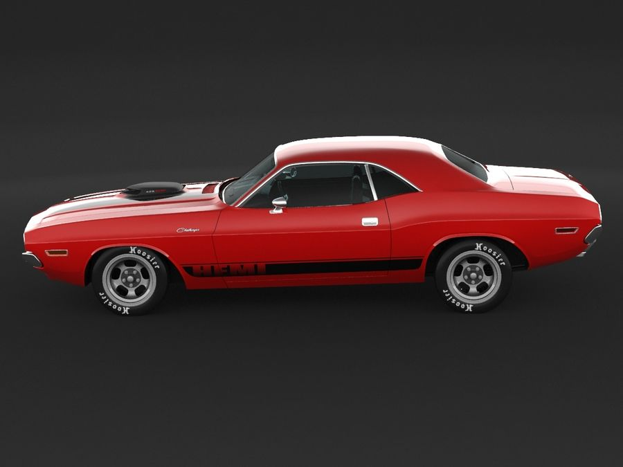 1970 Dodge Challenger Mopar royalty-free modelo 3d - Preview no. 5