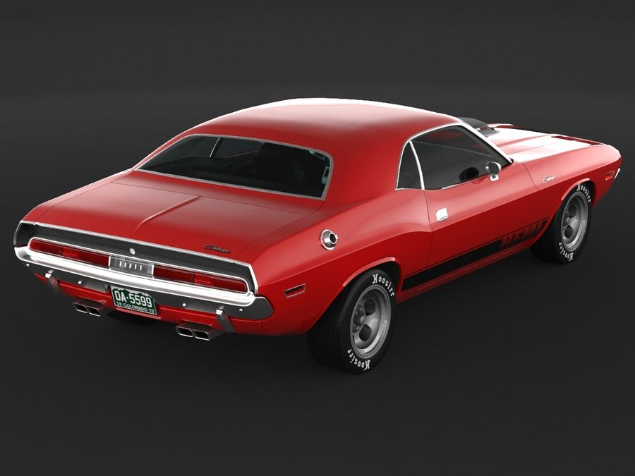 1970 Dodge Challenger Mopar royalty-free modelo 3d - Preview no. 7