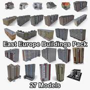 Lowpoly Oost-Europa gebouwenpakket 3d model