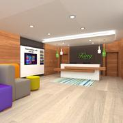 Recepção do hotel 3d model