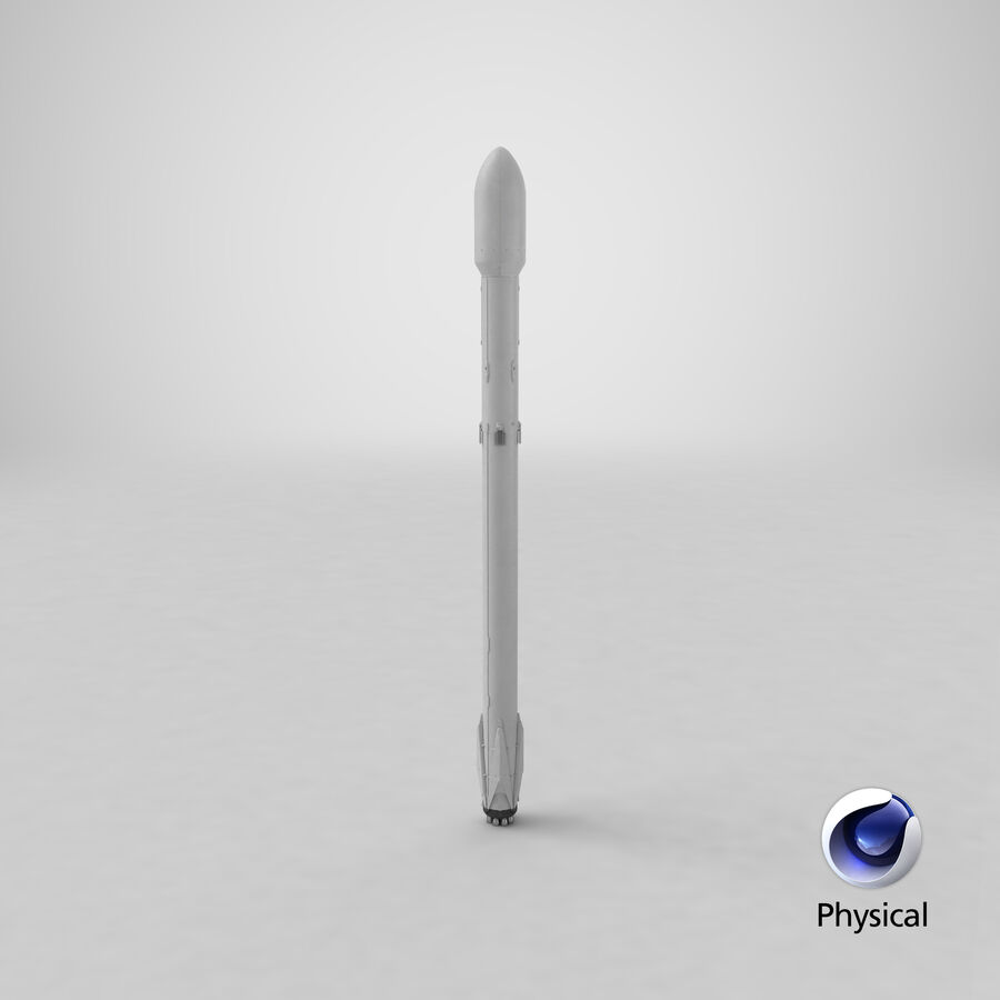 Space Rocket Cargo royalty-free 3d model - Preview no. 9