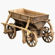 Old Wooden Cart 3d model 3d model