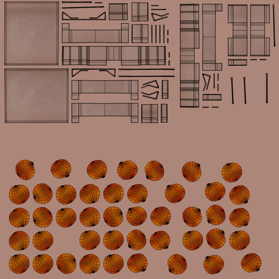 Fruit in Boxes royalty-free 3d model - Preview no. 20