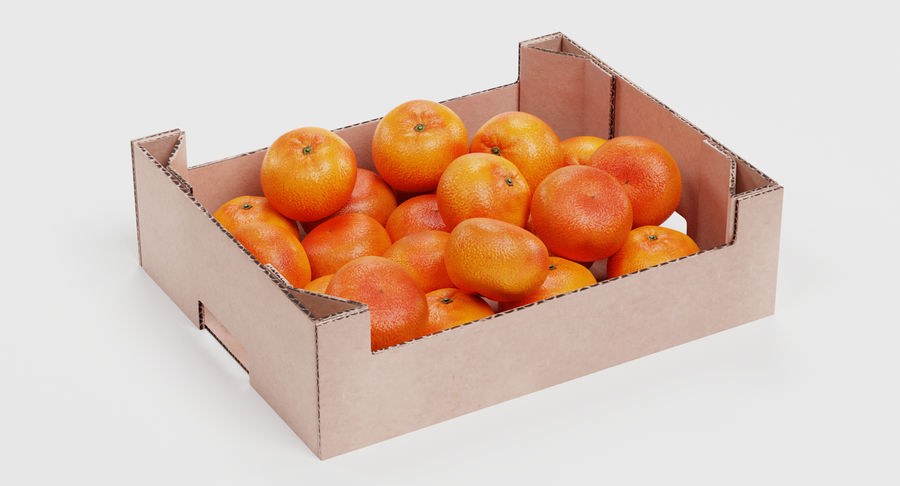 Fruit in Boxes royalty-free 3d model - Preview no. 14