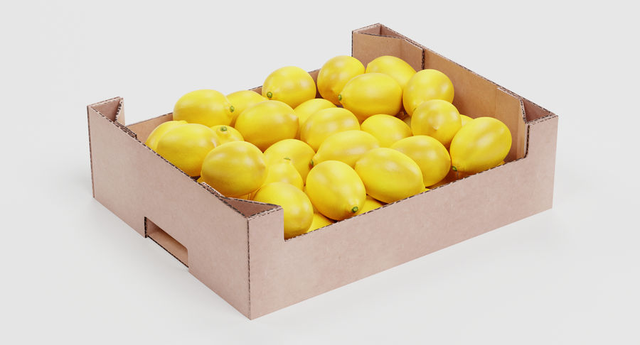 Fruit in Boxes royalty-free 3d model - Preview no. 11