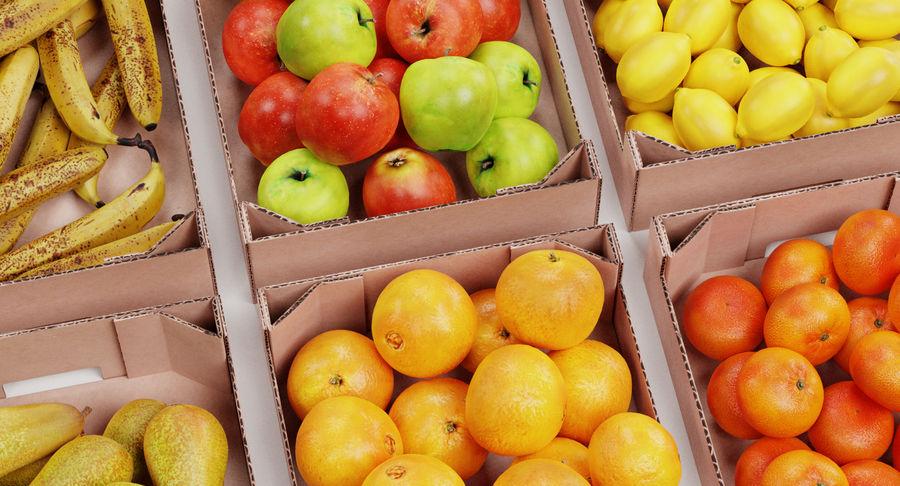 Frutta in scatole royalty-free 3d model - Preview no. 8