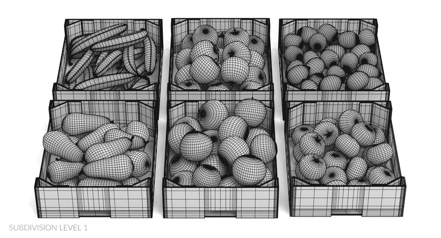Fruit in Boxes royalty-free 3d model - Preview no. 22