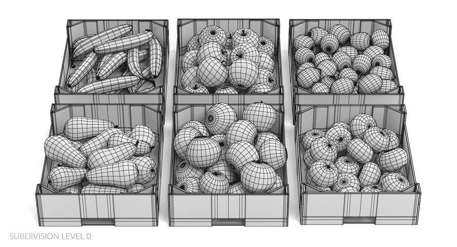 Frutta in scatole royalty-free 3d model - Preview no. 21