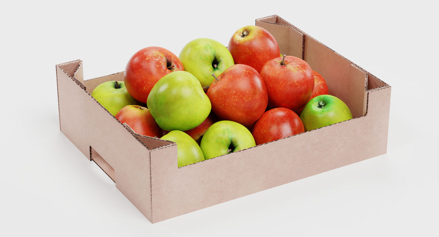 Fruit in Boxes royalty-free 3d model - Preview no. 9