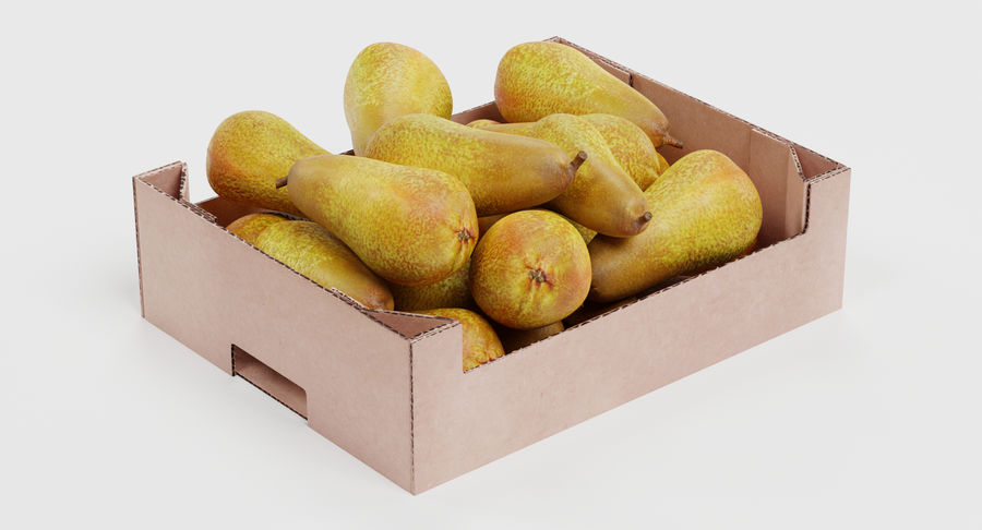 Fruit in Boxes royalty-free 3d model - Preview no. 13