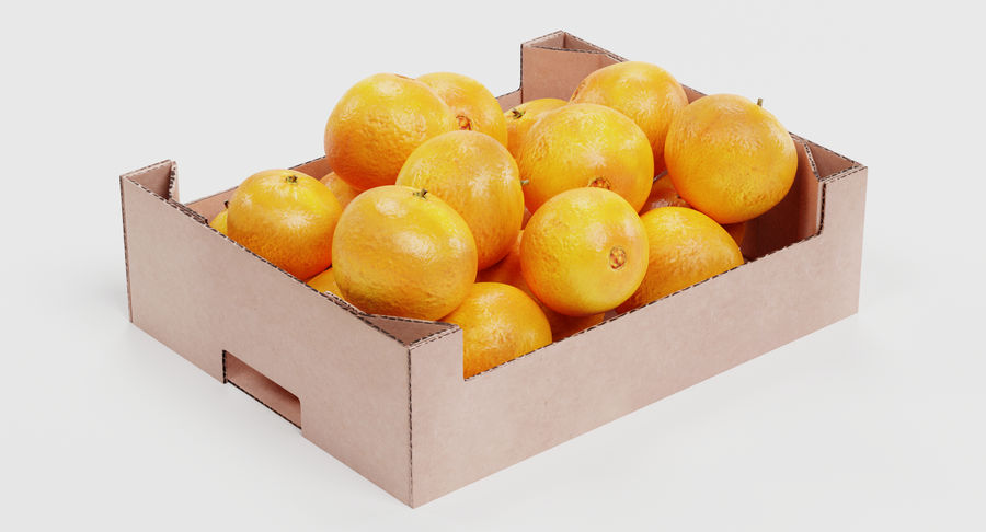 Fruit in Boxes royalty-free 3d model - Preview no. 12