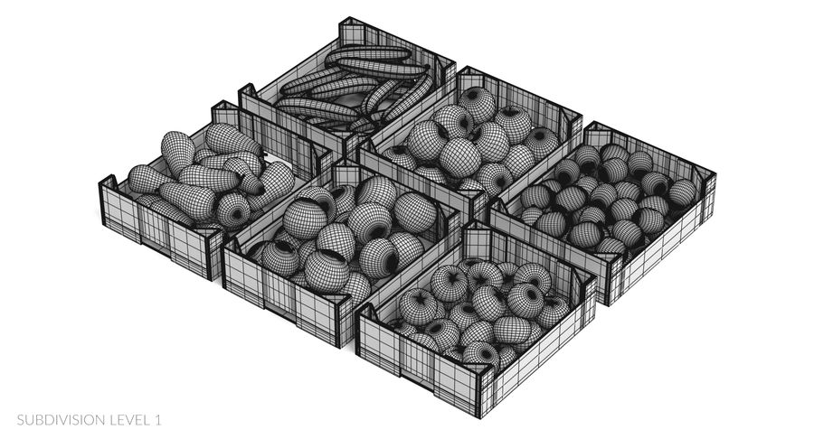 Fruit in Boxes royalty-free 3d model - Preview no. 24