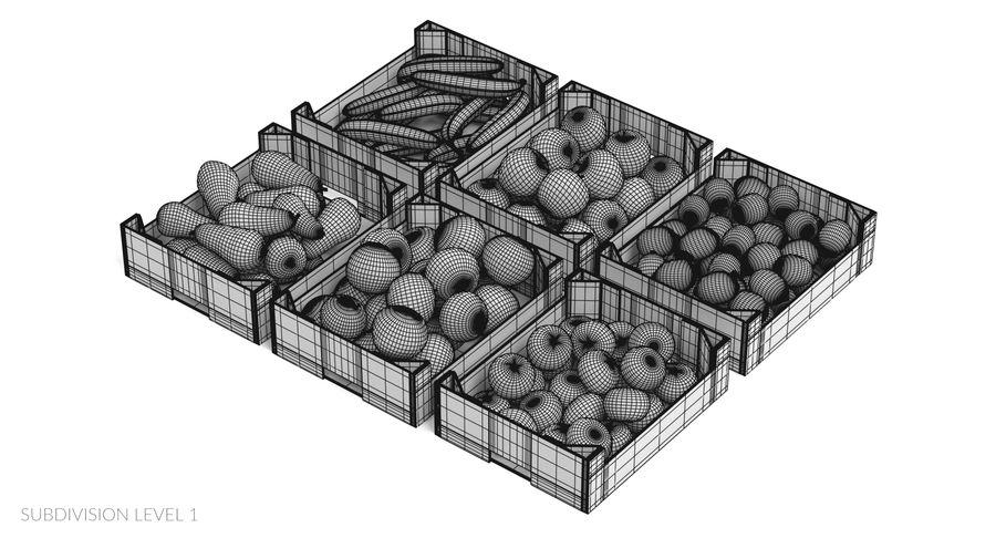 Frutta in scatole royalty-free 3d model - Preview no. 24