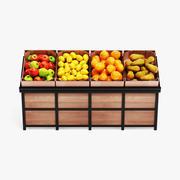 Owoce na stojaku 3d model