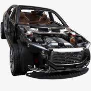Coche dentro modelo 3d