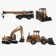 Pack de machines de construction 3d model