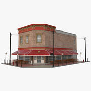 Budynek pubu 3d model