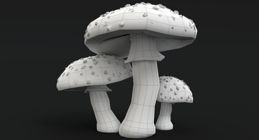 Pilzsammlung royalty-free 3d model - Preview no. 3